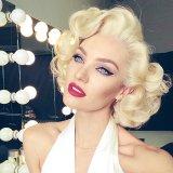 Cosmopolitan | Кэндис Свейнпол в образе Мэрилин Монро для MaxFactor
